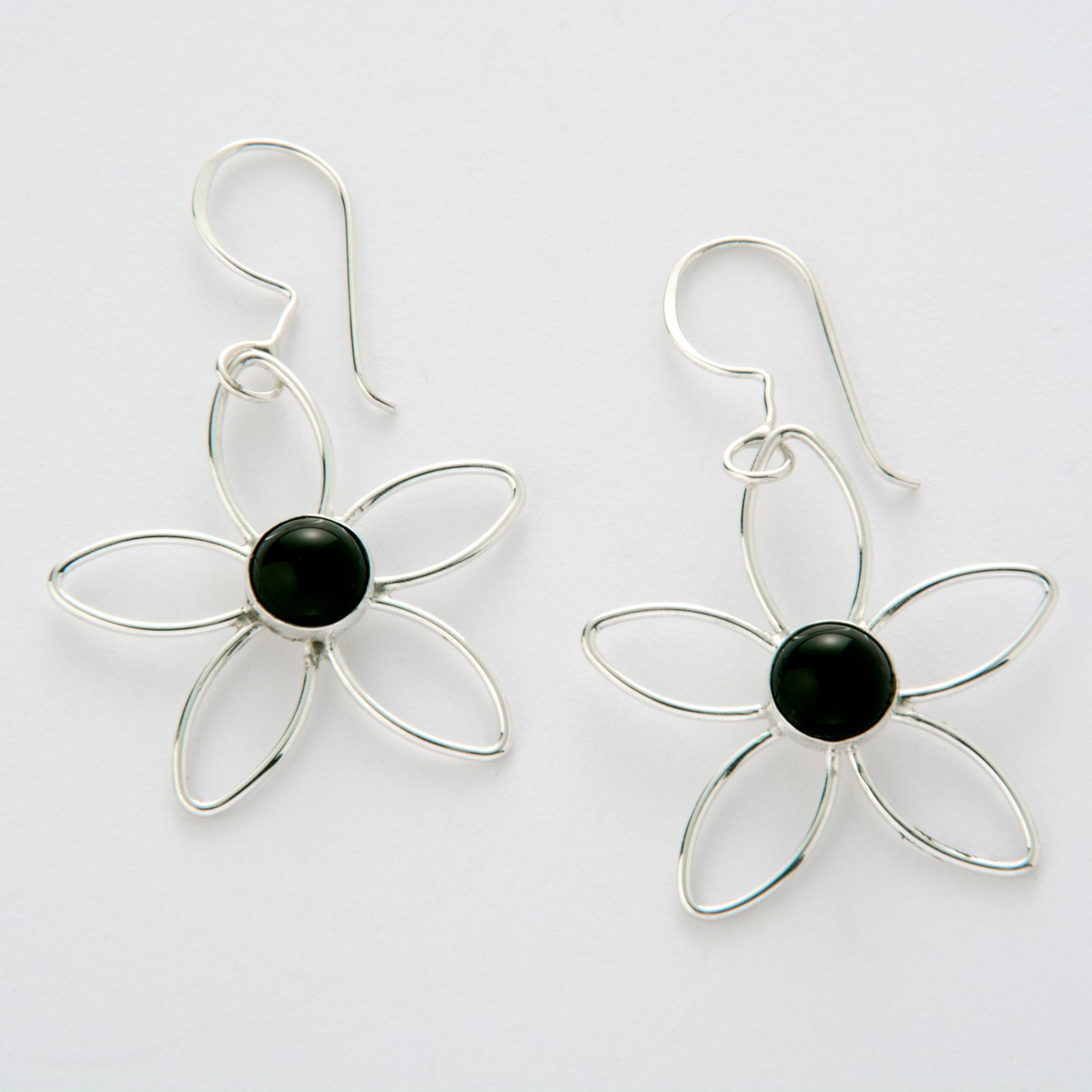 8fb1f9272 BD14: Handmade Flower & Black Onyx Dangle Earrings | Jenni K - Fine ...