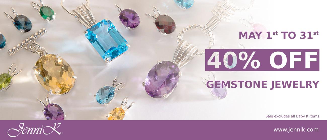40% off Gemstone Jewelry