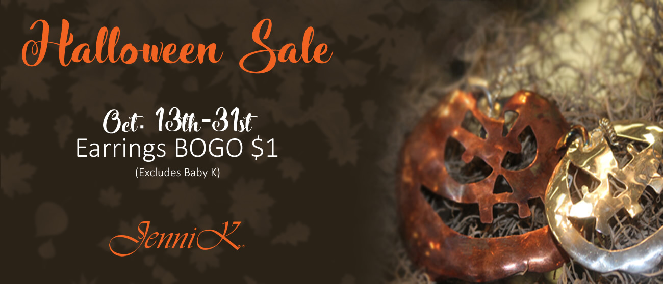 Halloween Sale -  Buy a pair of earrings & get the 2nd pair for $1 - Oct 13th-Oct 31st - Click Here