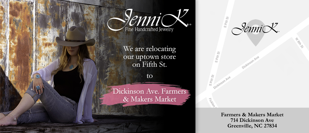 Visit Jenni K. Off Fifth at the Farmers & Makers Market on Dickinson Avenue.