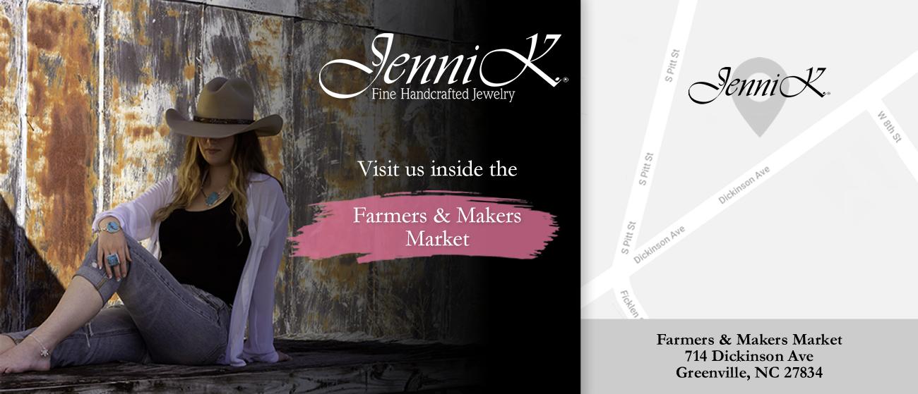 Visit Jenni K at the Farmers & Makers Market on Dickinson Avenue
